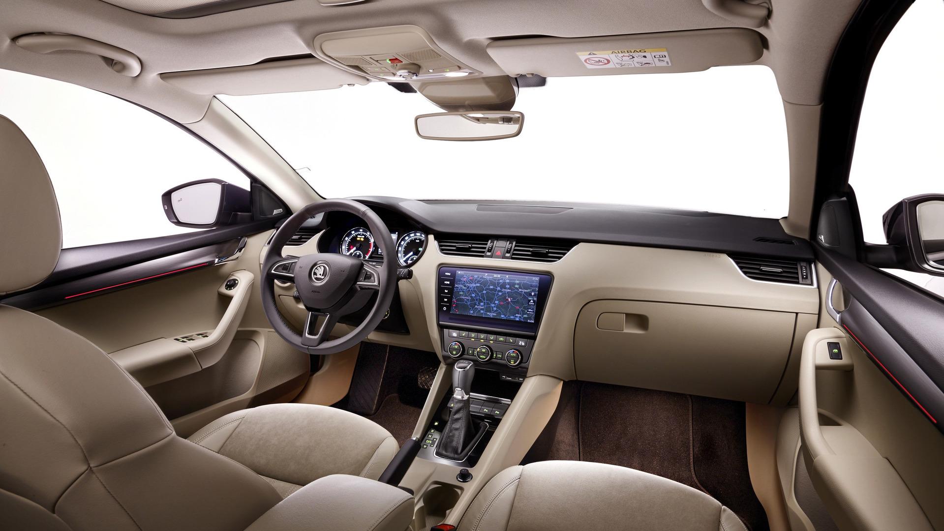 2017 skoda octavia facelift interior cabin detailed. Black Bedroom Furniture Sets. Home Design Ideas