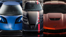 Ford GT vs. Chevy Corvette Z06 vs. Dodge Viper ACR