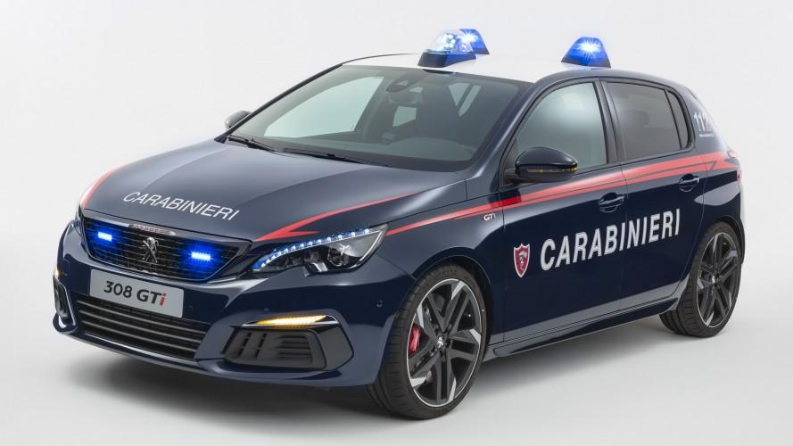 Una Peugeot 308 GTi per i Carabinieri