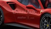 Ferrari 488 GTO, il rendering