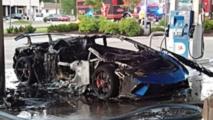 Lamborghini Huracan Performante fire