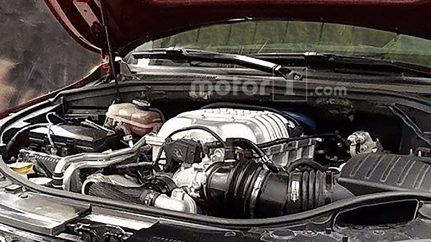 Jeep Grand Cherokee Trackhawk engine spy shots