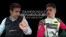 Mick Schumacher shows his driving instructor how to park