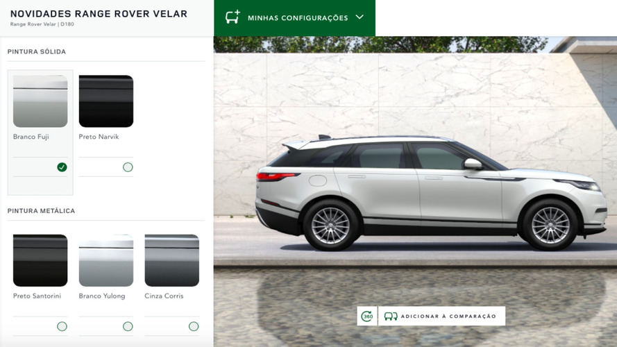 Novo Range Rover Velar chegará ao Brasil em três versões