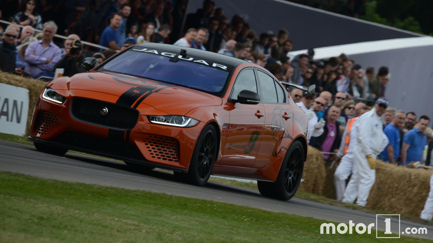 Jaguar XE SV Project 8 live in Goodwood