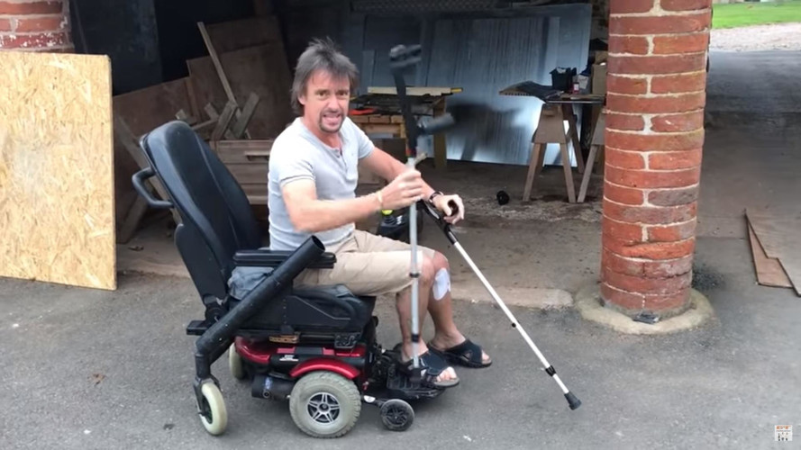 Richard Hammond Shows Off His New EV With Twin Crutch Conversion