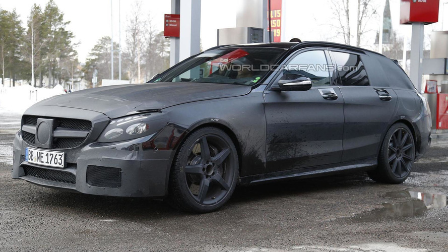 2015 Mercedes C63 AMG Estate spied for the first time
