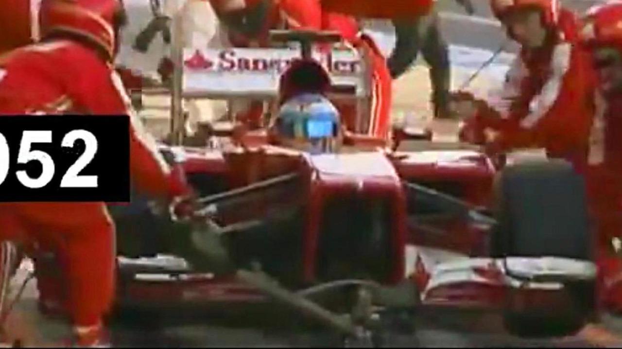 Fernando Alonso pit stop screenshot 13.10.2013 Japanese Grand Prix