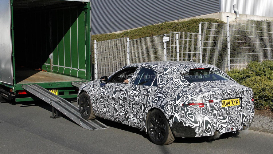2015 Jaguar XE spied at the Nurburgring