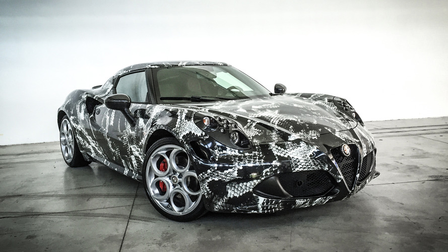 Alfa Romeo 4C gets a scaly wrap inspired by limited edition shoes