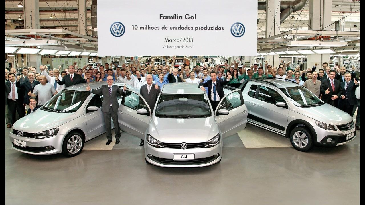 VW: Família Gol atinge dez milhões de unidades produzidas