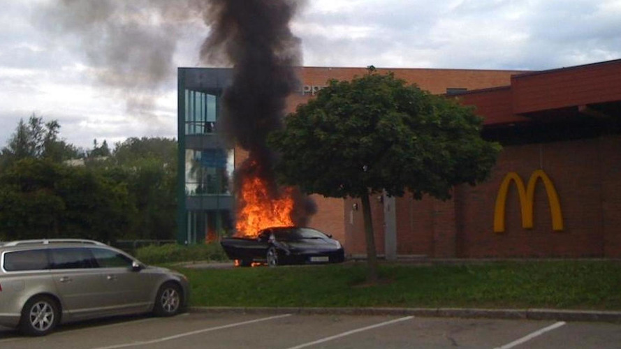 Norwegian rap star borrows Lamborghini - bursts into flames at McDonalds