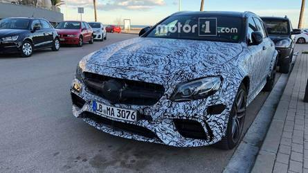 Motor1.com Reader Spies AMG E63 Wagon With Beefier Wheel Arches