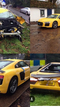 Audi R8 V10 Plus crash