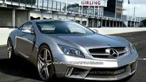 Artist impression - Mercedes AMG W 197 SLC Gullwing