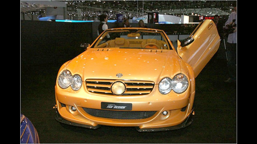 Schweizer Flügelstürmer: Mercedes SL von FAB Design