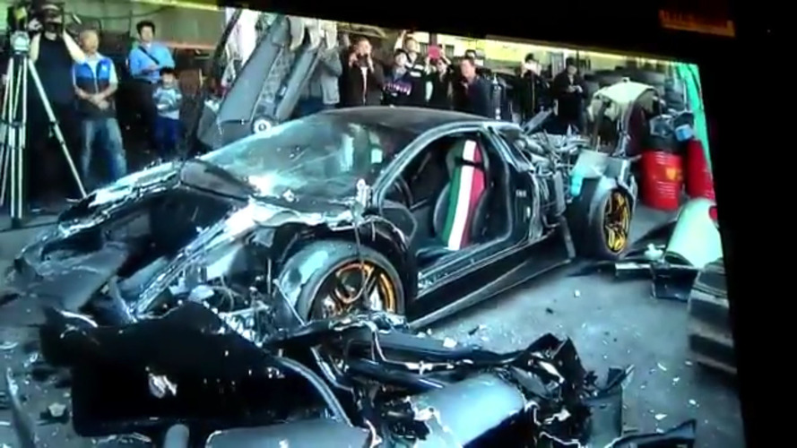 Lamborghini Murcielago torn apart in Taiwan to set an example