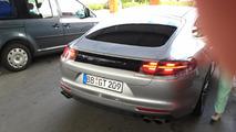 Porsche Panamera spy on road