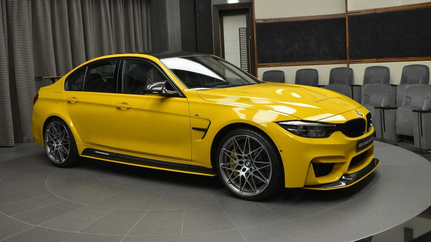 BMW M3 Speed Yellow Bombarded With M Goodies