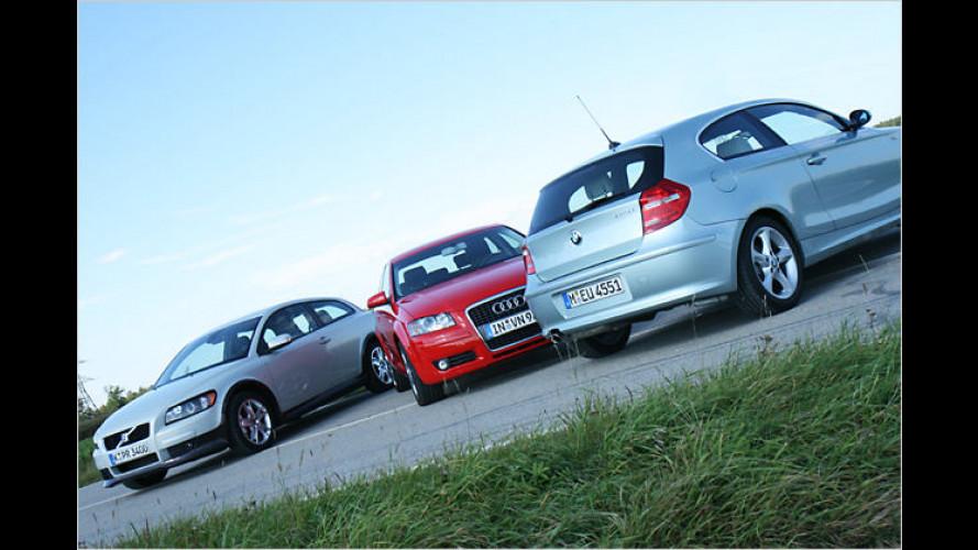 Audi, BMW und Volvo: Drei Premium-Kompakte im Vergleich