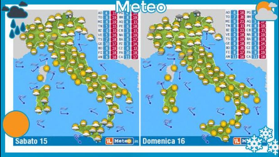 Previsioni meteo del week end 15 e 16 marzo