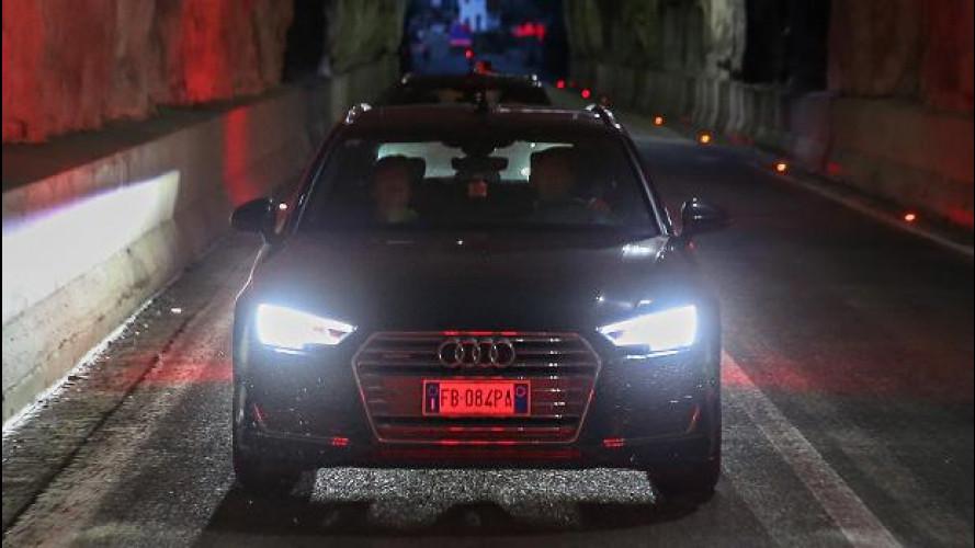Fari Matrix LED Audi, guidare di notte come di giorno