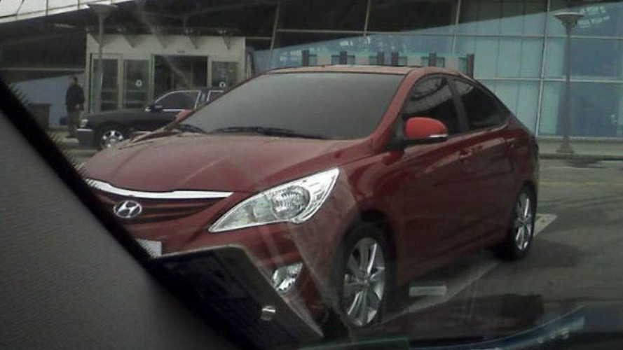 Next Gen 2012 Hyundai Accent Spied Uncovered Strongly Resembling Sonata