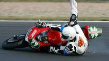 Michael Schumacher crashes during German Super Bike Championship practice 07.08.2008