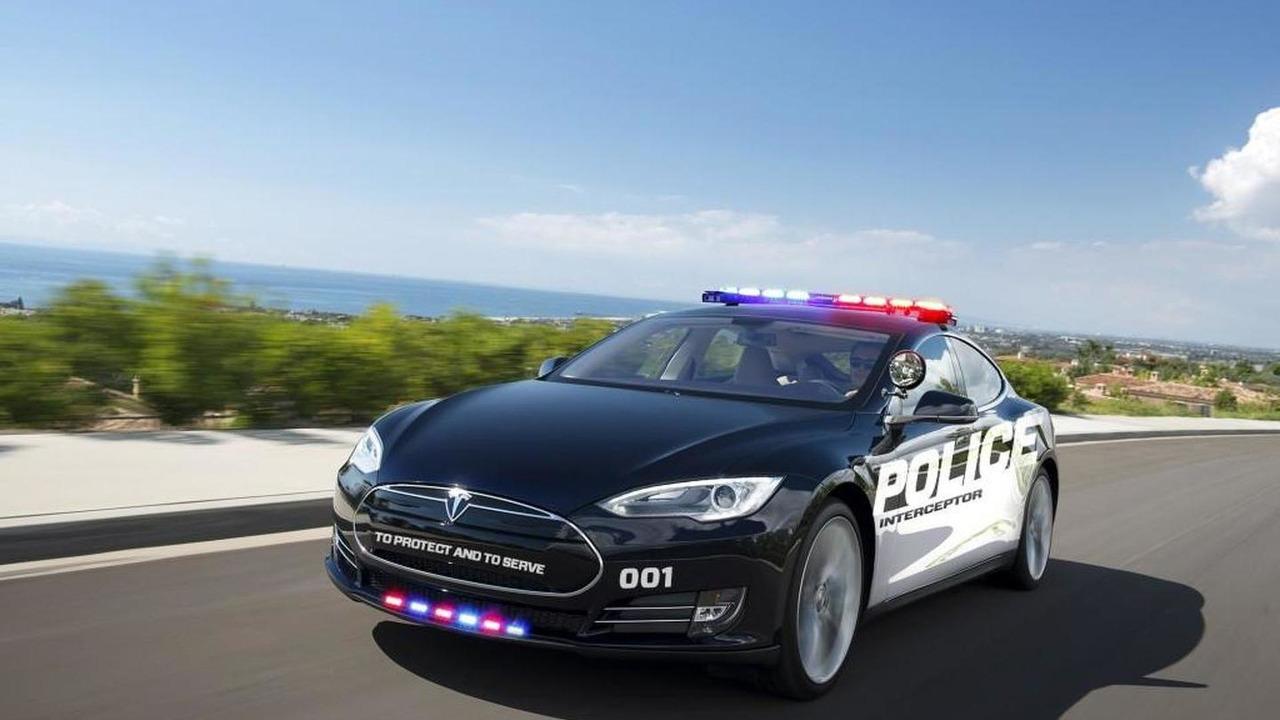 Tesla Model S police cruiser render 07.11.2013