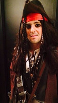 Felipe Massa dresses up like a pirate for a costume party