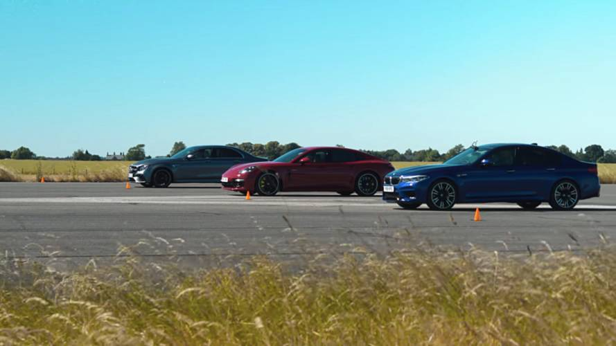 Watch M5, E63 S, Panamera Turbo S E-Hybrid In All-German Drag Race