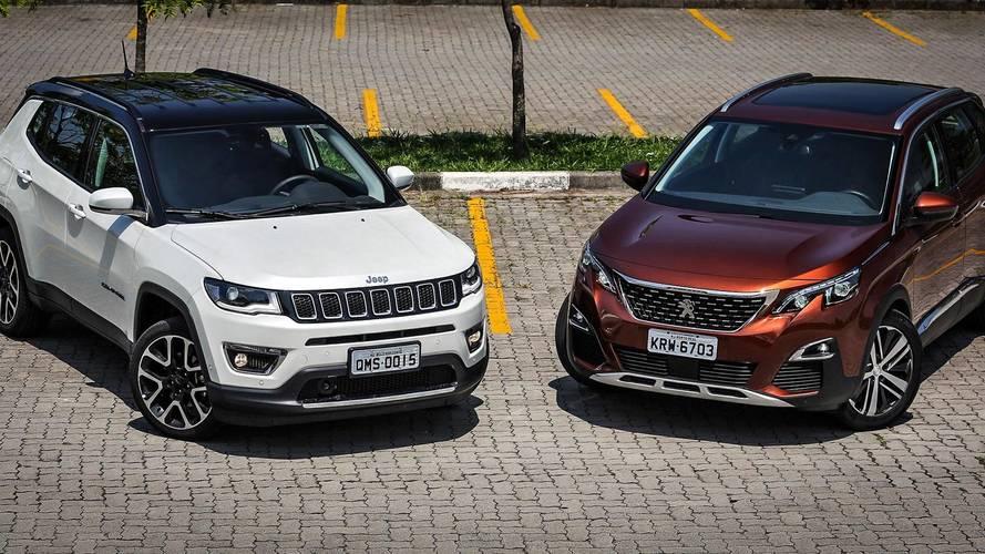 Comparativo - Peugeot 3008 e Jeep Compass Limited fazem duelo entre estilo e robustez