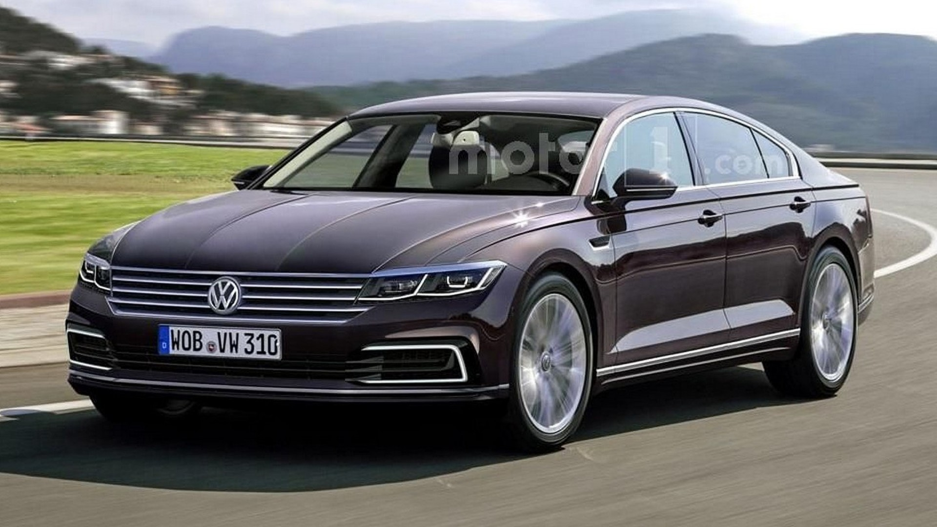 next vw phaeton rendered but won t be out soon. Black Bedroom Furniture Sets. Home Design Ideas