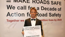 F1 World Champion Jenson Button lends his support to the Decade of Action for Road Safety - part of the Make Roads Safe Campaign, 11.12.2009 Monte-Carlo, Monaco