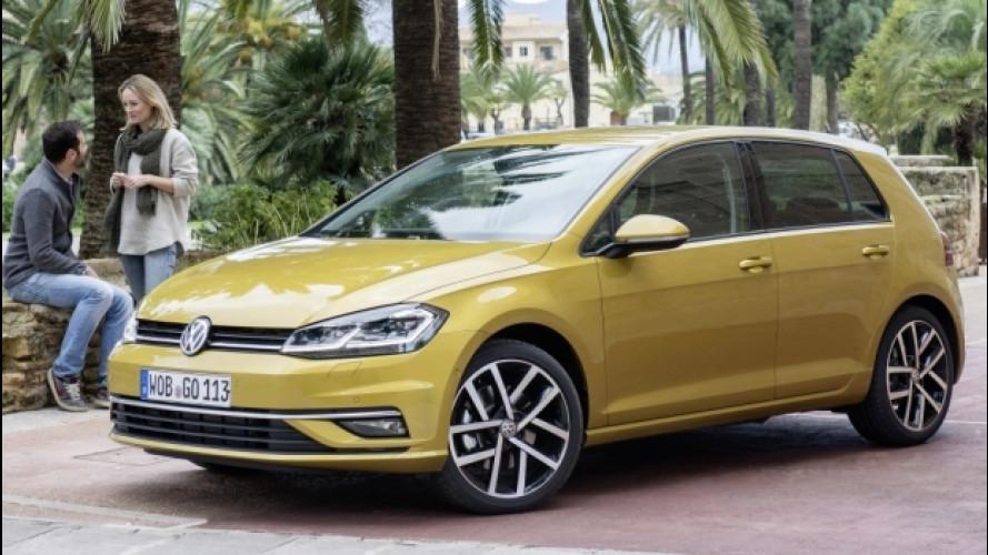 Volkswagen Golf restyling, prezzi da 20.150 euro