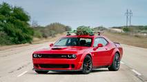 Hennessey Dodge Challenger Hauls Christmas Tree