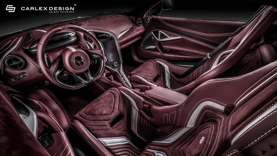 McLaren 720S Gets Burgundy Interior Makeover From Carlex Design