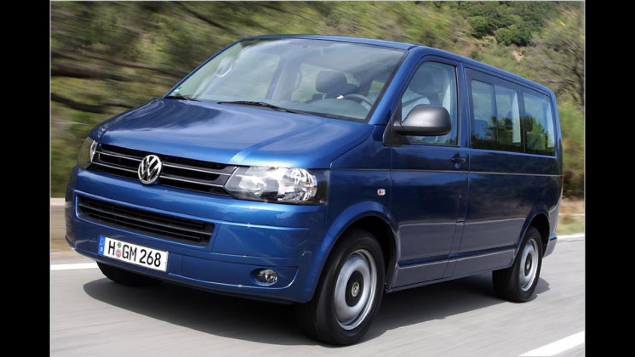 Langsamste Beschleunigung 0-100 km/h bei  Serienautos: VW T5 Multivan 2.0 TDI Startline