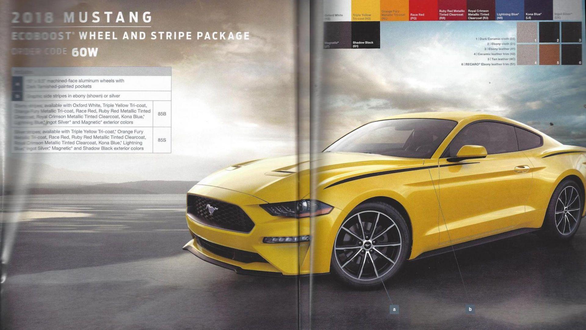 2018 Ford Mustang GT Options Leak Via Ordering Guide
