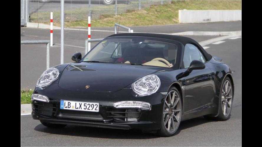 Erwischt: Cabrio und Flügel-Version des neuen Porsche 911
