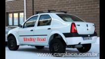 Logan Off-Road com suspensão elevada e tração 4x4 roda em testes na Europa