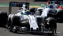 Felipe Massa, Williams FW38 Mercedes, Valtteri Bottas'ın, Williams FW38 Mercedes önünde