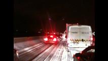 Autostrada bloccata causa neve