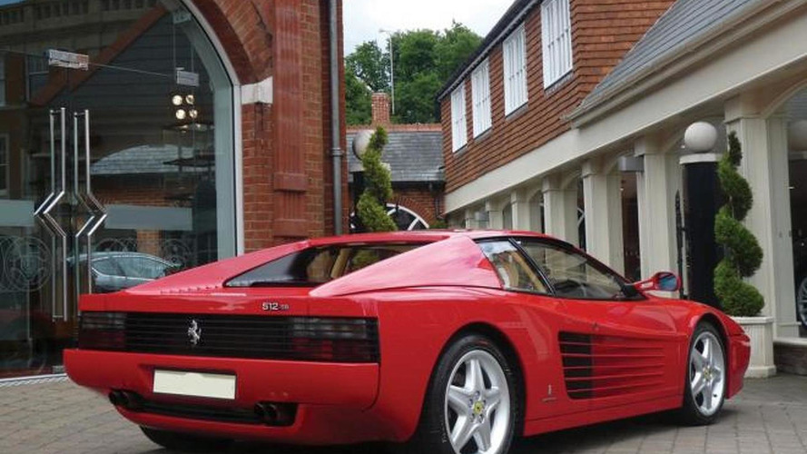 1991 Ferrari 512 TR formerly owned by Sir Elton John will be auctioned