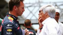 (L to R): Christian Horner, Red Bull Racing Team Principal with Bernie Ecclestone