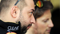 Gerard Lopez (FRA) with Romain Grosjean (FRA), Bahrain Test One, Day One, Sakhir / XPB