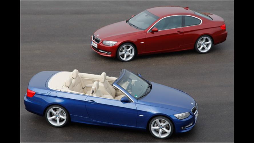 Sparsamer: 306 PS starker BMW 335i als Coupé und Cabrio