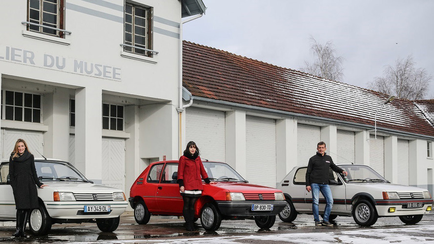 Três Peugeot 205 são restaurados com perfeição pela marca