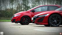 Honda NSX vs Honda Civic Type R