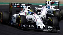 Felipe Massa, Williams FW38 and Valtteri Bottas, Williams FW38